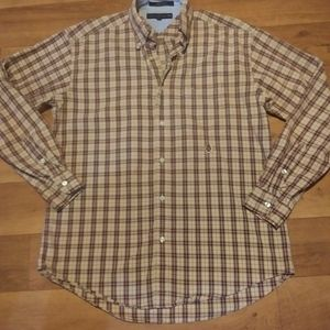 "EUC""Tommy Hilfiger"" plaid button down long sleeve"